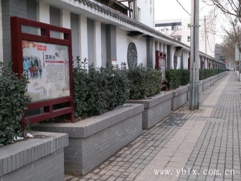 连云港积雪段路边指示牌